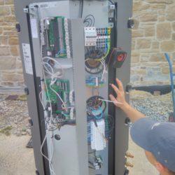 Chauffage et sanitaire par trois pompes à chaleur air-eau , chauffage par le sol 300m² et 28 ventilo-convecteur de Jaga!